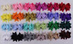 "Wholesale 24pcs girl baby toddler Gift 3""boutique Hair Bows Grosgrain ribbon 355 #handmade"