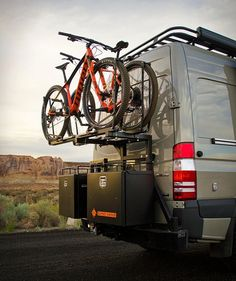 Looks like the Van Life movement is here to stay, the phenomenon is all the rage lately, specially the fascination with conversion vans built to take adventurers into the wild. Meet the future of the modern adventure van, Idaho-based Sync Vans offe Sprinter Van Conversion, Camper Van Conversion Diy, Rv Bike Rack, Ambulance, Mercedes Sprinter Camper, Vw Camping, Camper Hacks, Campervan Interior, Volkswagen Transporter