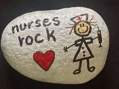 NURSES ROCK  Hand Painted Rock