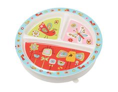 Divided Suction Plate - Birds & Butterflies #babyfood #toddlerlunch