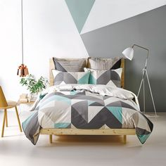 Equinox Smoke Duvet Cover Set