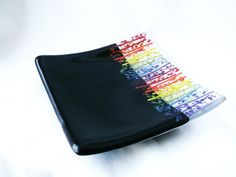 Items Similar To Sushi Dish In Rainbow Colors Made Of Fused Gl On Etsy