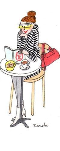 The only sunny bar in Paris - Bars / Restaurants - My Little Paris Illustration Parisienne, Paris Illustration, Watercolor Illustration, French Illustration, Little Paris, Paris Images, Reading Art, Tea Art, Life Is Beautiful