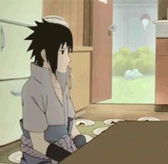 Itachi just passed by the doorway in an apron, chasing a chicken. Your argument is invalid.