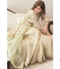 From short frocks to shalwar kameez, Sajal Ali dresses can give you an idea how to look trendy and adorable in every season. Pakistani Fashion Party Wear, Pakistani Wedding Outfits, Pakistani Dress Design, Bridal Outfits, Pakistani Dresses, Indian Dresses, Indian Fashion, Pakistani Couture, Women's Fashion