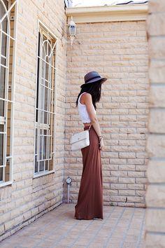 Sportsgirl Pants, Grandma's Top, Thrifted Bag, Rubi Hat