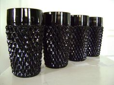 vintage glassware. I've been collecting Tiara black glass ware for over 25 years. Love it.