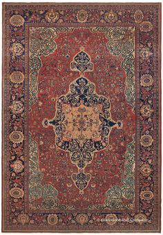 Persian Sarouk Farahan rug,  8ft 10in x 12ft 8in, 3rd Quarter 19th Century, Claremont gallery