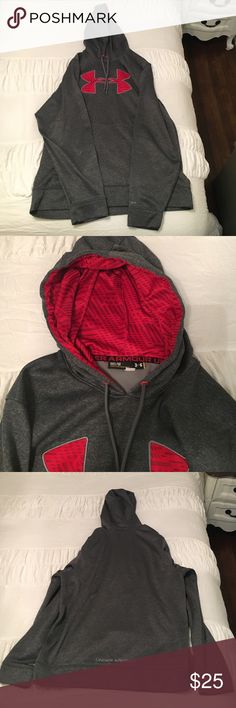 Men's Under Armour Hoodie Men's Under Armour Hoodie size medium, color is grey. Great hoodie in excellent condition! Under Armour Jackets & Coats Performance Jackets