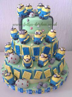 3 tier minion cake @Stefanie Martinez