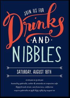 Drinks and Nibbles : Baltic Corporate Event Invitations Designer: Petite Alma for Tiny Prints