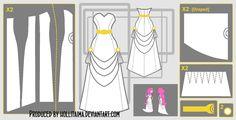 PB videomakers dress cosplay design draft by Hollitaima.deviantart.com on @deviantART         Pattern