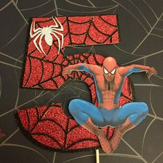Excited to share the latest addition to my #etsy shop: Spider-Man Cake Topper, Marvel, Justice League #avengers #spiderman #birthdayparty