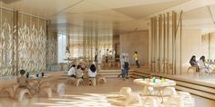 Architectural visualisation of a school in Dubai designed by RCR arquitectes