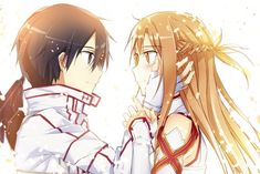 SAO Kirito ASuna Love Couple Anime