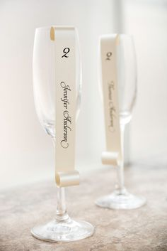 Champagne Flute Hanging Place Cards