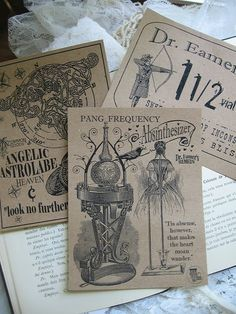 NEW Pang Frequency Absinthesizer Dr. Eamers Remedy Label. %s%.50, via Etsy.