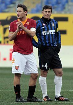 Totti / Zanetti #intermilan #asroma