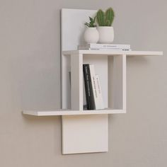 Fill your empty wall space with this unique wall shelf. Featuring shelving for your home and office. Decor, Wall Shelf Decor, Shelves, Diy Furniture, Wall Shelves Design, Bookshelf Design, Decor Interior Design, Home Decor, Shelving