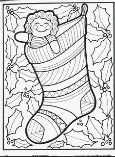 Ask, and you shall receive! Here are more Let's Doodle coloring pages– just in time for the holiday season.