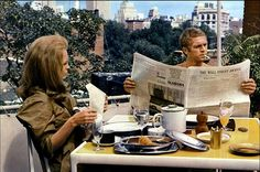 Faye Dunaway and Steve McQuuen in 'The  Thomas Crown Affair'.