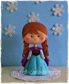 Anna - Frozen em feltro