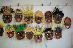 masque africain a fabriquer maternelle