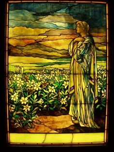 Field of Lilies - Tiffany Studios, c. 1910 Matthew 6:28