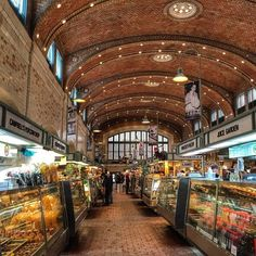 Once of the country's oldest and largest food halls, Cleveland's West Side Market (est. 1912) supports about 100 vendors selling both prepared foods and groceries.