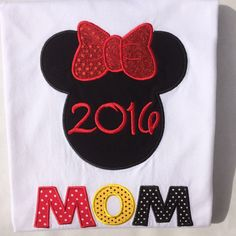 A personal favorite from my Etsy shop https://www.etsy.com/listing/259142178/minnie-mom-with-year-personalized