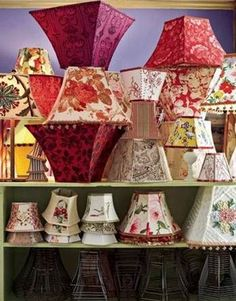 Make your own lampshades~