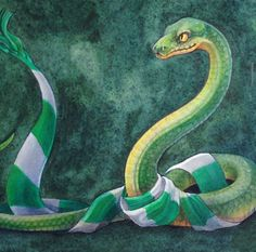 Slytherin Mascot and Scarf