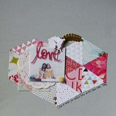Love Layout // via Stephanie Howell...maybe nothing at top so you can see the heart shape better