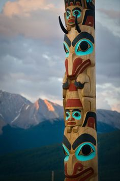 national aboriginal day canada, cakes, pictures | Two Brothers Totem Pole in Jasper National Park