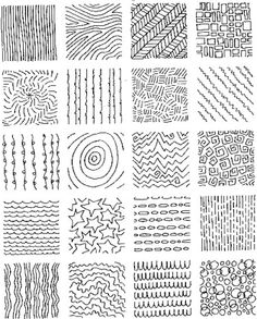 Texture Drawing Examples | Grid of Textures