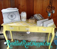 Sofa Table Makeover!! Love it!!