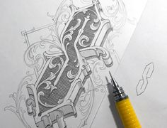 Stella* designed by Martin Schmetzer. Connect with them on Dribbble; the global community for designers and creative professionals. Tattoo Lettering Design, Graffiti Lettering, Hand Lettering, Estilo Chola, Retro Graphic Design, Alphabet Symbols, Hand Tattoos For Guys, Ink Illustrations, Illuminated Letters