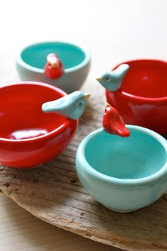 I love these little bird bowls.