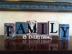 FAMILY IS EVERYTHING Wood Blocks / Wood Sign / by WoodnExpressions, $27.00