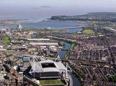 The Millenium  Stadium with Penarth in the background