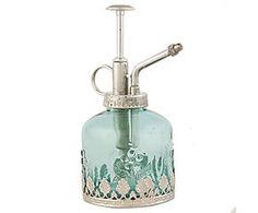 Бутылочка для парфюма - стекло - голубой - Ш7хВ16 см