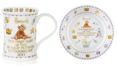 Harrods Cute Royal Baby Commemorative Mug and Plate http://mariannalondon.blogspot.it/2013/07/royal-baby-nail-mania.html