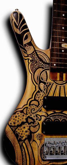 Custom bass - paint job by Siberianita (Valeria Glotzer), via Flickr