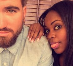Cute and playful interracial couple #love #wmbw #bwwm