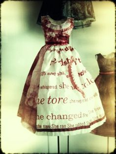 One of my paper dresses. x  Leonie Oakes