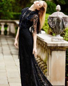 Sachin & Babi Neva Lace Capelet Gown $995