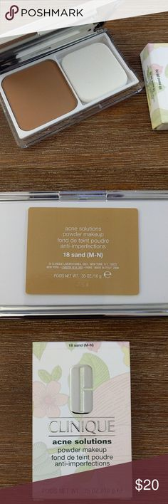 Clinique Acne Solutions Powder 18 Sand (M-N) New in Box Clinique Makeup Face Powder