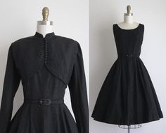 1940s Party Dress / Vintage 1940s Dress / by CanaryClubVintage