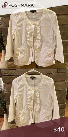 Beautiful white jacket -Talbots Beautiful button up jacket from Talbots , looks good with day or evening wear Talbots Jackets & Coats Plus Fashion, Womens Fashion, Fashion Tips, Fashion Design, Fashion Trends, Talbots, Button Up, Jackets For Women, Underwear