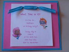 Bubble Guppies Invite! So cute!